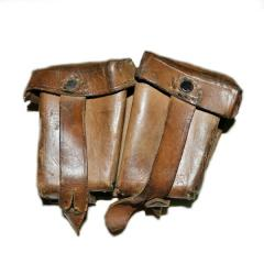 Cartridge pouch Manlikher, leather for holders,