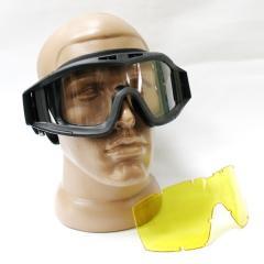 Goggles mask ballistic 2 lenses black 10002609