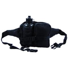 Поясная сумка тактическая с флягой MFH чёрная 30943A