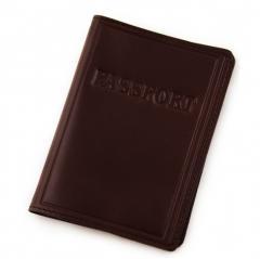 Обложка на паспорт кожаная коричневая 10000963