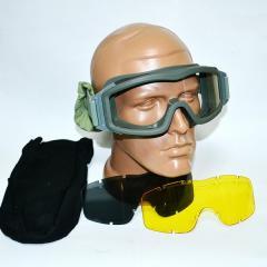 Tactical Foliage Green glasses masks 3 lenses