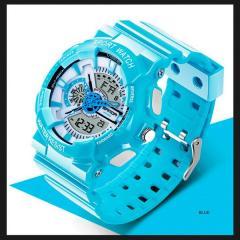 Часы спортивные Sanda Powerful WR 30 m бирюзовые TGTW-05-blue-white