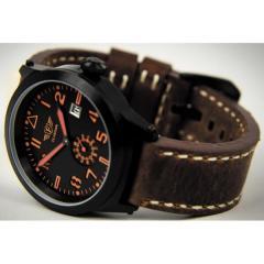 Men's watch wrist Flieger black with a