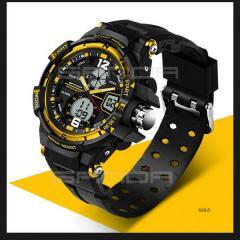Часы спортивные Sanda 30 m WR золото...