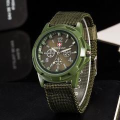 Men's watch Gemius Swiss army olive