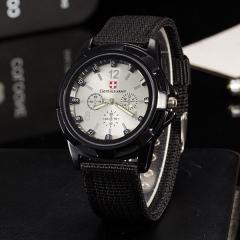 Часы мужские Gemius Swiss army черные с белым TGTW-01-black-white