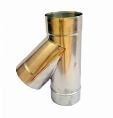 Single Tee 45° Ø 120 mm for the stainless steel flues