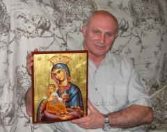 Korfsky (Corfu) Mother of God hand-written icon