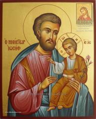 Св. Иосиф Обручник рукописная икона в наличии