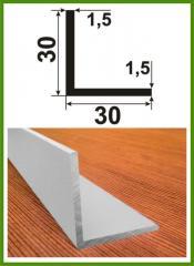 Уголок алюминиевый 30х30х1,5 равносторонний
