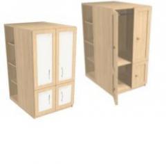 Шкаф 600 со стеллажами низкий