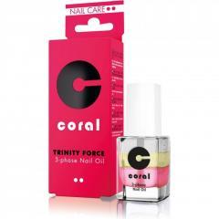 Трифазне масло для нігтів і кутикули CORAL 11 мл