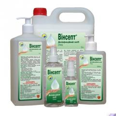 "Disinfectants for hygiene of hands ""Winsept (gel)"