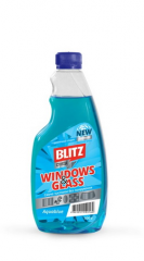 """Fluid for cleaning glass surfaces """"BLITZ crystal"""""""