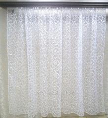 Тюль готовая Завиток белый, 3метра 88101