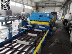 Automation line for metallic tile production