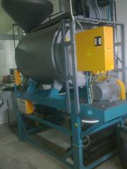 Equipment for frying or drying of nuts, seed,