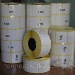 Термотрансферная этикетка 39х40