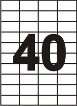 Самоклейка А4 -52,5х29,7 (40 на листе)