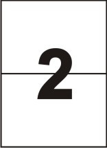 Самоклейка A4 (148x210), 2 на листе -100 листов