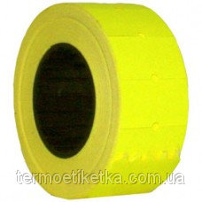 Этикет лента 21х12 желтая(лимон)