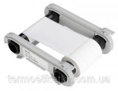 Лента риббон WHITE - 1000 prints / roll / roll(RCT015NAA) белая, на 1000 оттисков