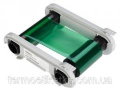 Лента риббон GREEN - 1000 prints / roll(RCT014NAA) зеленая, на 1000 оттисков
