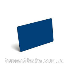 Карточка PVC BLANK REWRITABLE CARDS (BLUE) - 30MIL (синяя пластиковая карта многоразового использования)