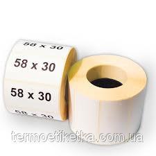 Термоэтикетка ТОП 58х30мм (улучшенная)