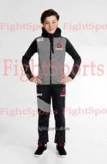 Children's UFC REEBOK Kids Grey sports suit -