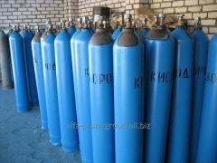 Oxygen in cylinders