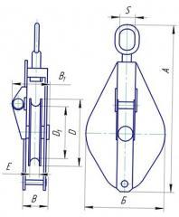 Блок монтажный однорольный со звеном грузоподъемностью 0,5т