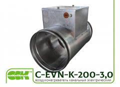 Електрически въздух нагревател за кръгли тръби C-EVN-K-S1-250, 3-0
