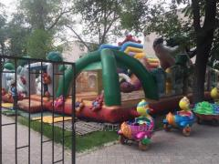 """Inflatable trampoline """"Masha and Medved"""
