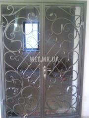 Дверь входная кованая