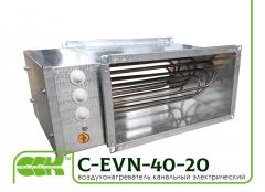 Электрический канальный воздухонагреватель C-EVN-40-20-12