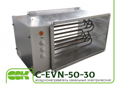 Электрический канальный воздухонагреватель C-EVN-50-30-23