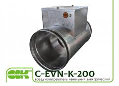 Электрический воздухонагреватель для круглых воздуховодов C-EVN-K-200-6,0