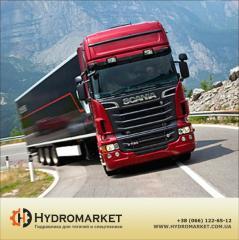Гидравлическая система на Scania GR 801
