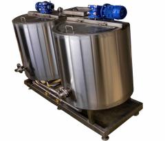 Pasteurizers of milk of reservoir type