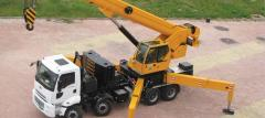 Telescopic hydraulic Hidrokon truck crane