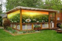 Photogrid for an arbor, verandahs, terraces, a