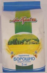 Борошно пшеничне вищого ґатунку 5 кг
