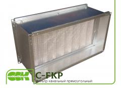Канальный прямоугольный фильтр C-FKP-100-50