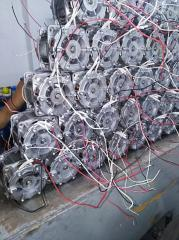 The electric motor with the distributed winding