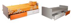 Кровать детская с ящиками на роликах
