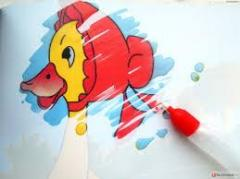 Reusable water coloring