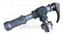 Струбцина заправочная REGO A7708L + 7575L4, поворотное соединение, для полуприцепов-газовозов, слива пропан-бутана, налива АГЗС, СУГ, сжиженного газа, кран для автоцистерн