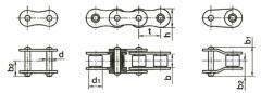Верига устройство валяк и ръкав гост 13568-75