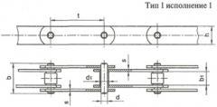 Цепь тяговая пластинчатая ГОСТ 558-81